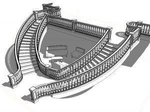cầu thang và lan can trong Revit