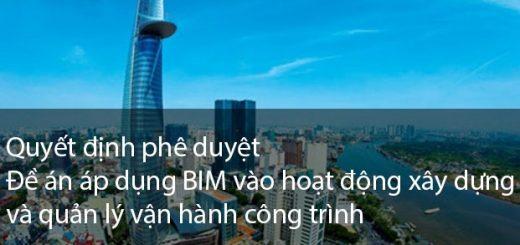 chinh phu phe duyet de an BIM tai viet nam