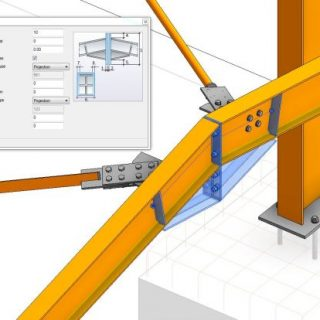 steel connection for revit 2018
