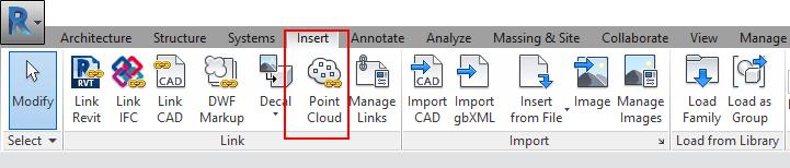dữ liệu point cloud và revit