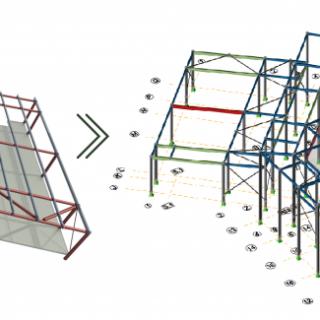 kết mô hình BIM giữa 2 công cụ Tekla và Revit